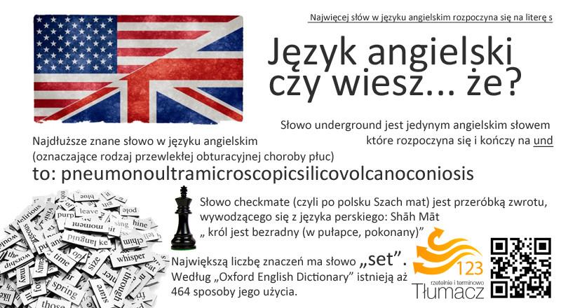 ciekawostki język angielski
